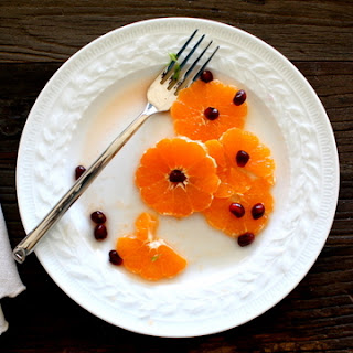 Tangerines with Pomegranate Seeds and Orange Blossom Water