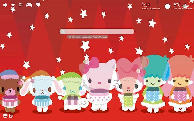 Hello Kitty Wallpaper New Tab Chrome Theme