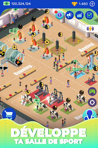 Télécharger Idle Fitness Gym Tycoon - Workout Simulator Game APK MOD (Astuce) screenshots 4