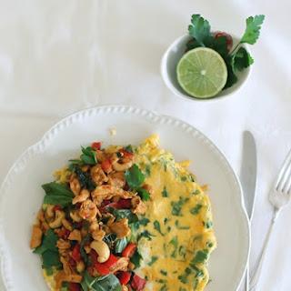 Stir Fried Chilli Basil Chicken & Cashew Omelet Recipe