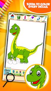 Dinosaur omalovánky k vytisknu - náhled