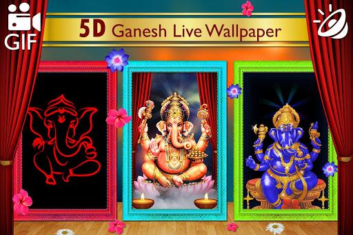 5D Ganesh Live Wallpaper - Lord Ganesh, Hindu gods 1.0.3 screenshots 8