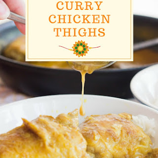 Coconut Curry Chicken Thighs.
