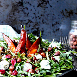 Lentil Salad With Caramelized Pears & Blue Cheese