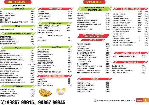 THE SOUTHERN KITCHEN menu 2