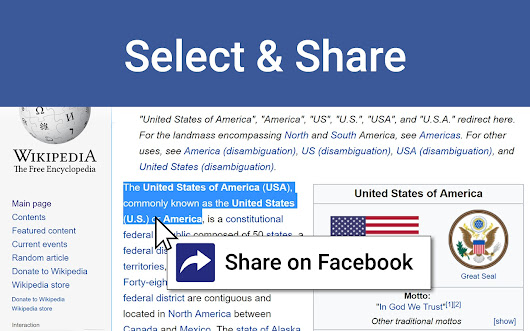 Select and Share on Facebook