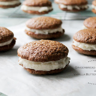 Gingerbread Whoopie Pies with Vanilla Buttercream Filling Recipe