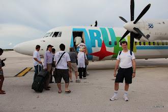 Photo: Diego - LU8ADX por subir al avión hacia Bonaire