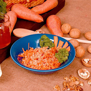 Carrot Salad With Honey And Nuts