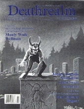 Photo: Deathrealm #23: Spring 1995; the first issue published by Malicious Press (Terry Rossio/Lawrence Lawrence Watt-Evans). Cover art by Lew Hartman