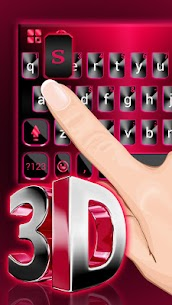 Classic 3d Red Keyboard Theme 1.0 APK with Mod + Data 3