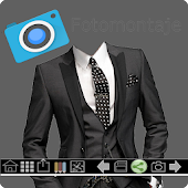 Men's suit. Photo Montage