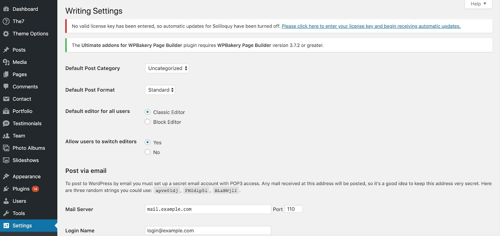 Disable the Block Editor in WordPress