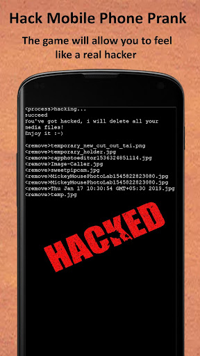 Hack App - Hack Mobile Phone Prank 1.0 screenshots 2