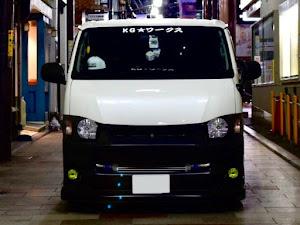ハイエースバン TRH200V SUPER GL 2018年式のカスタム事例画像 keiji@黒バンパー愛好会さんの2020年07月25日09:09の投稿