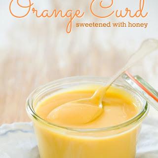 Honey Sweetened Orange Curd