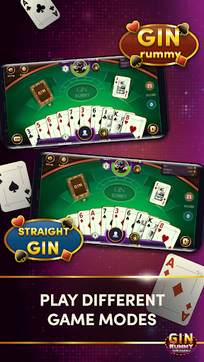 Gin Rummy - Online Card Game android2mod screenshots 2