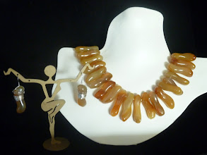 Photo: <BEREHYNYA> {Great Goddess Protectress} unique one-of-a-kind statement jewellery by Luba Bilash ART & ADORNMENT  ARKAN - AРКАН - carnelian, SS $100 DONATION
