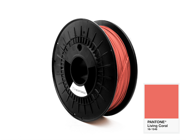 FiberForce Pantone (R) 16-1546 PLA Filament - 2.85mm (0.75kg)
