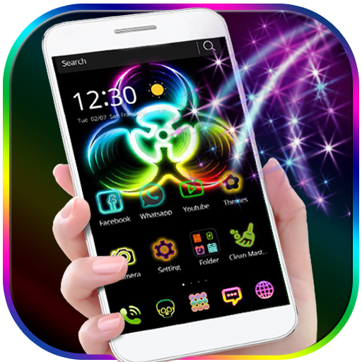Neon Fidget Spinner Theme for 3D Launcher