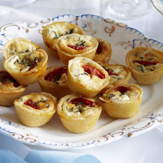 Tomato, Goat Cheese, and Thyme Quiches