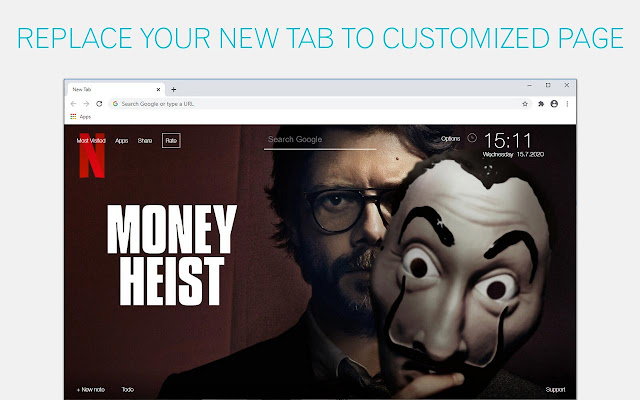 Money Heist Custom New Tab