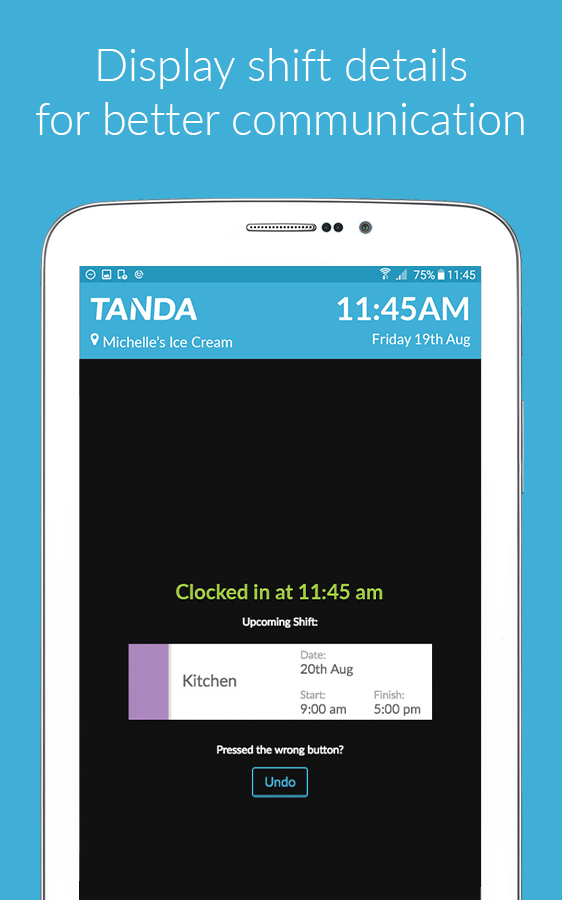 Tanda: Employee Time Clock- screenshot