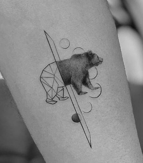 ลายสักหมีเล็กๆ