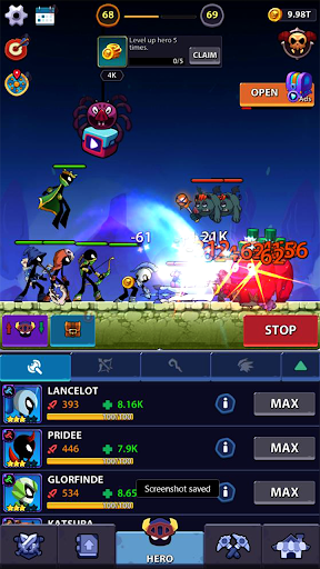 Idle Stickman Heroes: Monster Age 0.1.1 screenshots 1