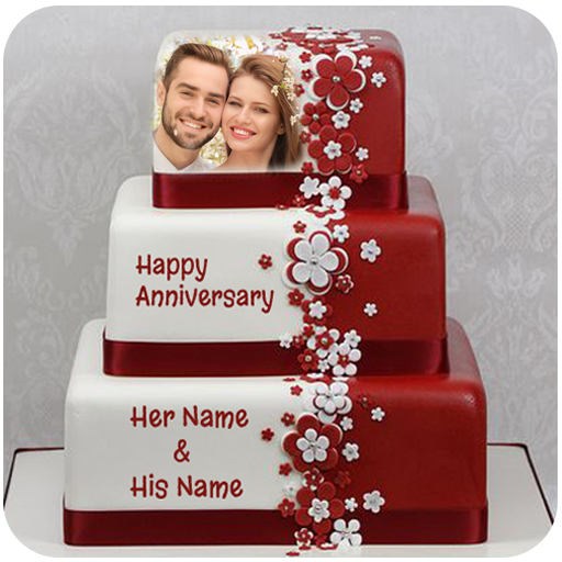 Name Photo On Anniversary Cake Photo Frame التطبيقات على Google Play