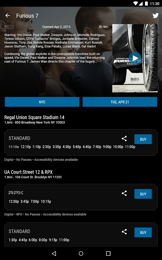 Regal Cinemas - screenshot