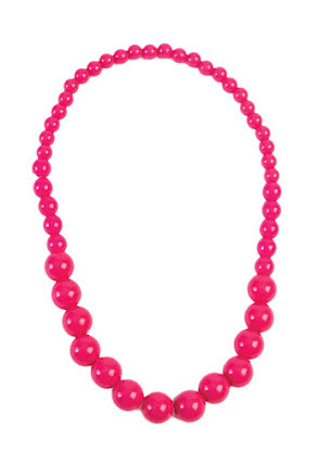 Pop Art halsband, cerise