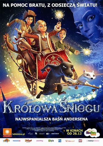 Przód ulotki filmu 'Królowa Śniegu'