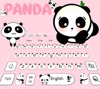 Download Cute Panda Keyboard Theme For PC Windows and Mac apk screenshot 1