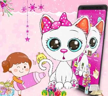 Cat Cute Cartoon Theme - náhled