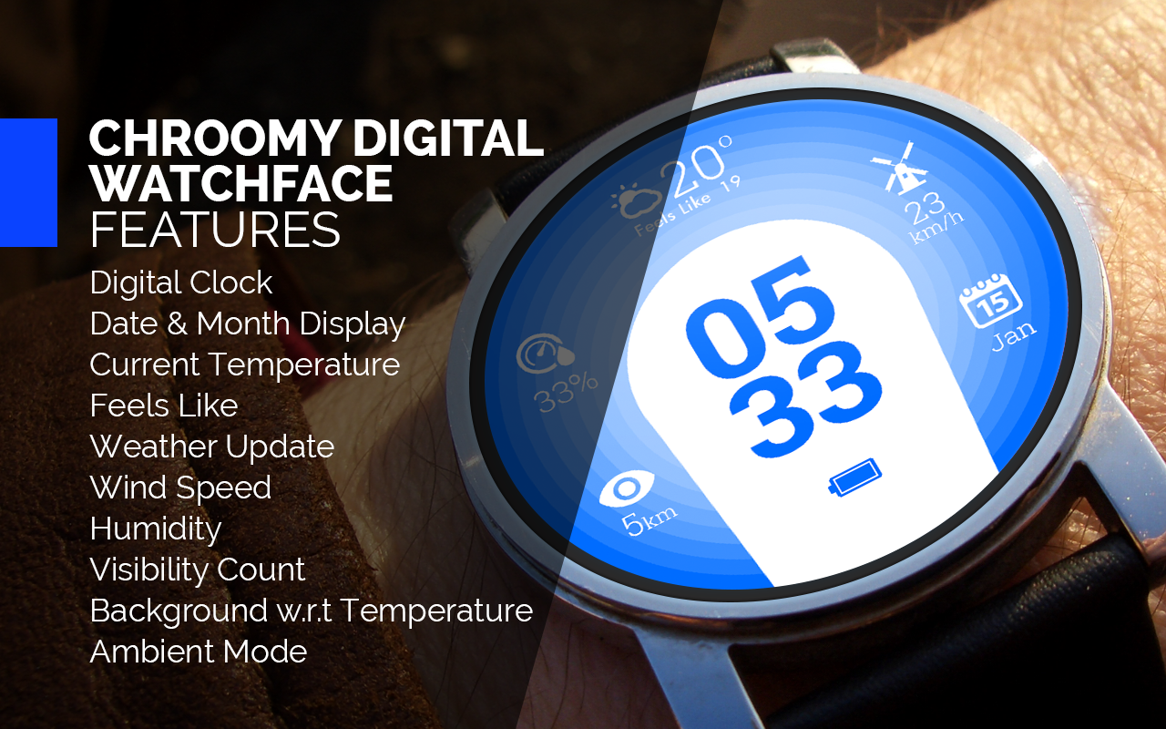Chroomy Digital Watch Face- screenshot