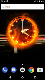 Fire Clock Analog Widget - náhled