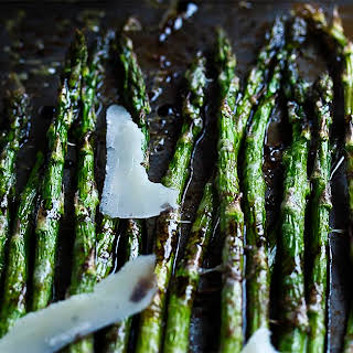Roasted Asparagus with Parmesan and Balsamic.