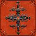 Free Orange Gothic Cross Go Launcher theme Icon