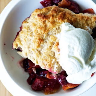 Peach + Berry Cobbler