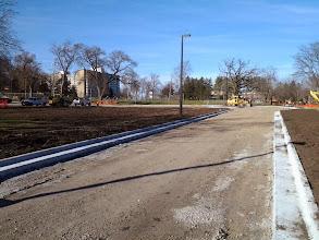 Photo: Restoration on both sides of entrance 11-19-2013