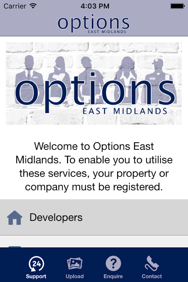 Options East Midlands- screenshot