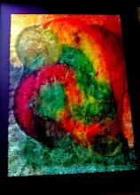 Photo: 029 (VIEW A) LOVERS ~ КОХАННЯ Luba Bilash original ~ mixed media matted & framed $275