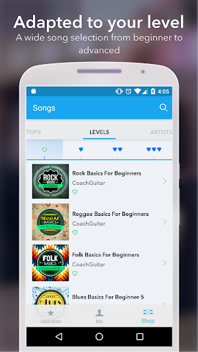 Coach Guitar: How to Play Easy Songs, Tabs, Chords 1.0.75 screenshots 4