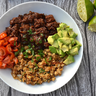 Mexican Stewed Beef Bowl.