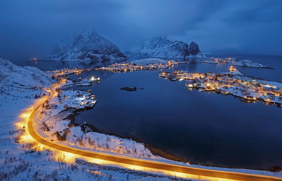 by Karel Stepan - Landscapes Mountains & Hills ( blue, reine )