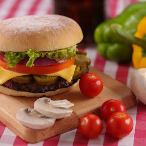 Burger by Ahmed Rayan - Food & Drink Meats & Cheeses