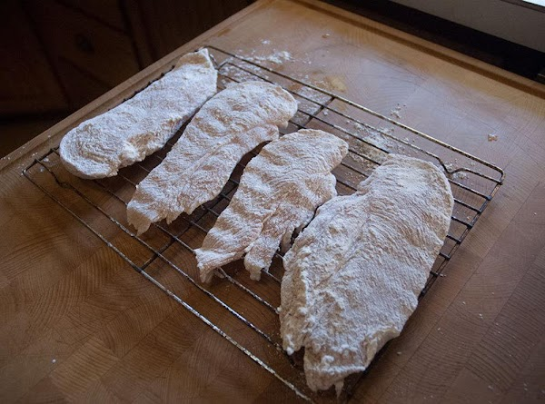Dredge in the flour mixture and allow the chicken to rest for 20 minutes,...