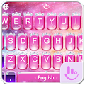 Pink Princess Diamond Galaxy Keyboard Theme download