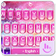 Pink Princess Diamond Galaxy Keyboard Theme Android apk